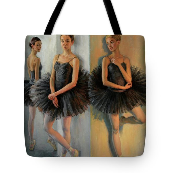 Ballerinas In Black Tutu Tote Bag