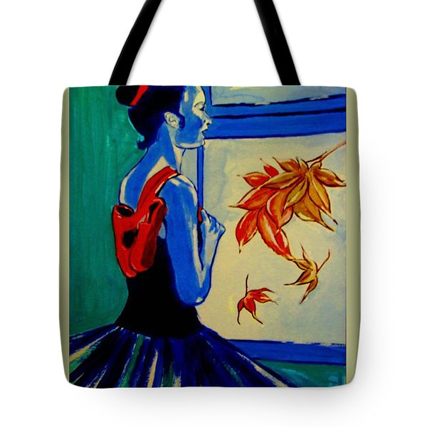 Ballerine En Automne Tote Bag by Rusty Woodward Gladdish