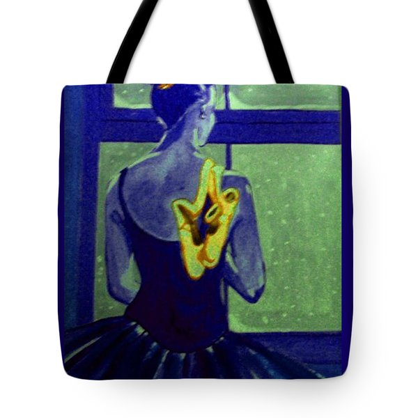 Ballerine En Hiver Tote Bag by Rusty Woodward Gladdish