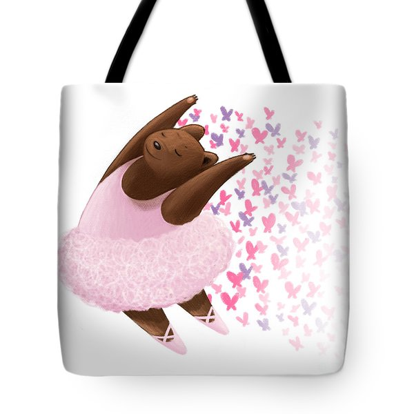 Ballet Bear Tote Bag