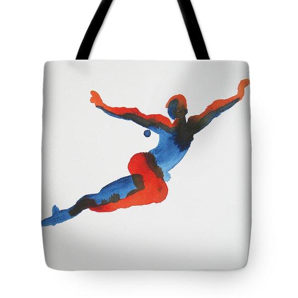 Ballet Dancer 1 Flying Tote Bag