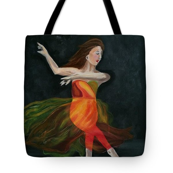 Ballet Dancer 2 Tote Bag by Brindha Naveen