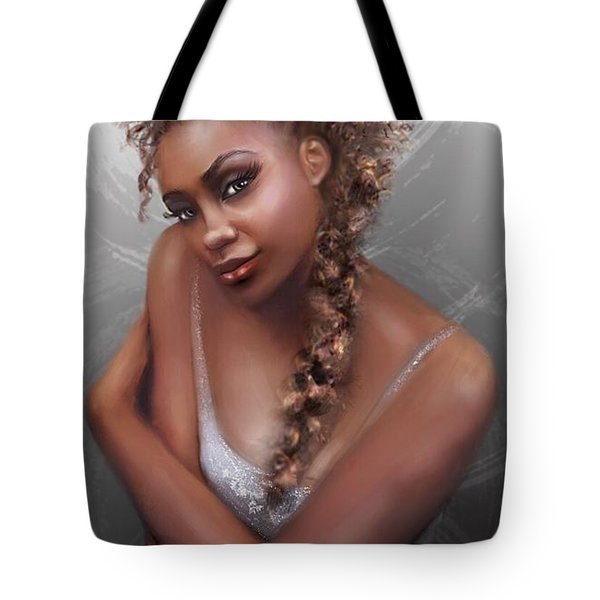 Tote Bag featuring the digital art Ballet Dancer by Dedric Artlove W