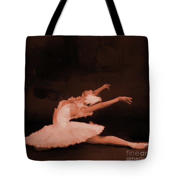 Ballet Dancer In White 01 Tote Bag