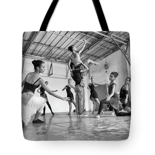 Tote Bag featuring the photograph Ballet Practice - Havana by Marla Craven