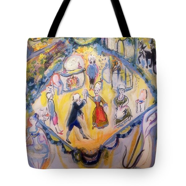 Balletic Kaleidoscope  Tote Bag
