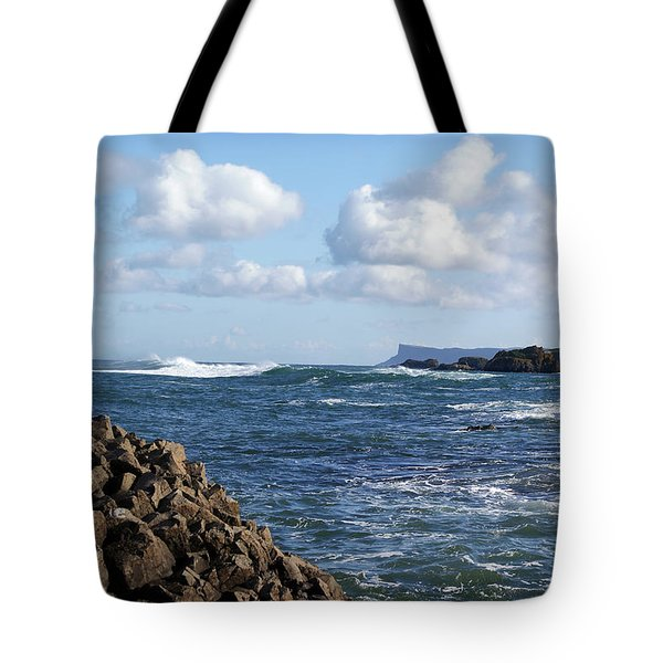 Tote Bag featuring the photograph Ballintoy View by Colin Clarke