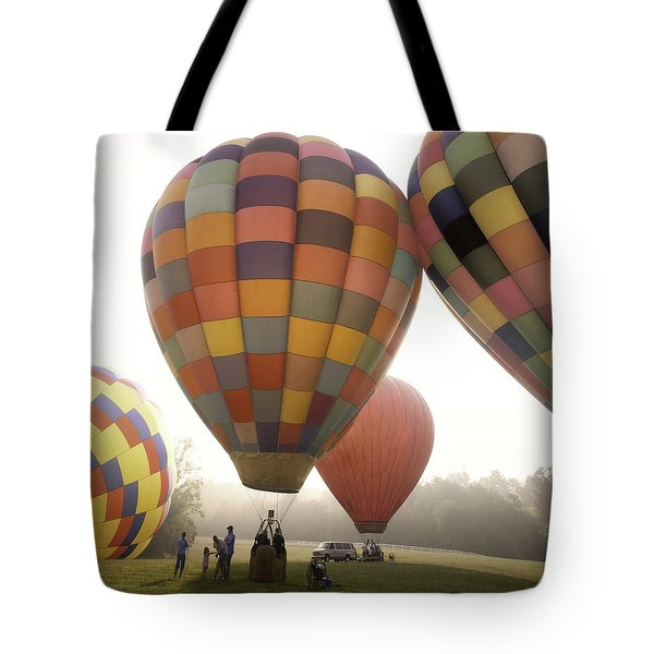 Balloon Day Is A Happy Day Tote Bag by Rob Travis