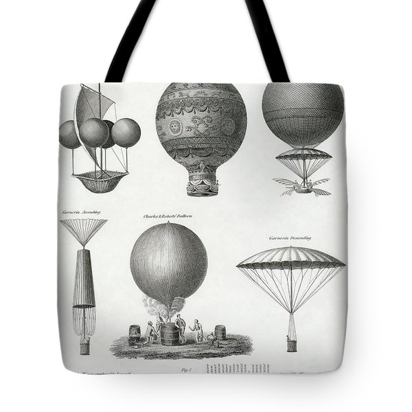 Balloon Design From The Late 18th And Tote Bag