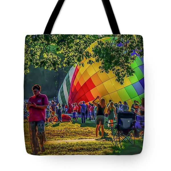 Tote Bag featuring the photograph Balloon Fest Spirit by Kendall McKernon