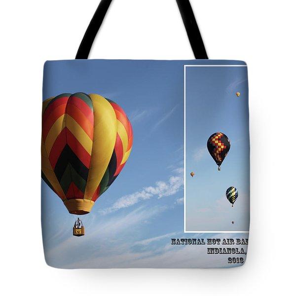 Balloon Festival Indianola, Iowa Tote Bag