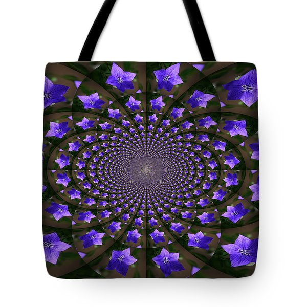 Balloon Flower Kaleidoscope Tote Bag by Teresa Mucha