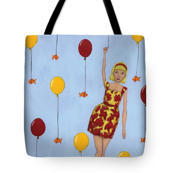 Balloon Girl Tote Bag by Christy Beckwith