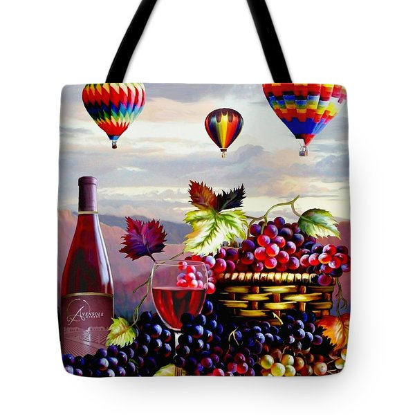 Balloon Ride At Dawn Tote Bag by Ron Chambers