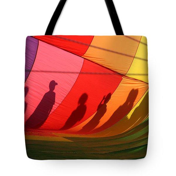 Balloon Shadows Tote Bag