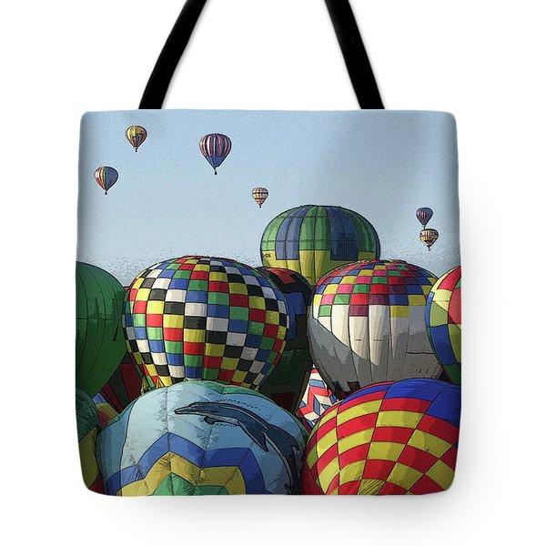 Balloon Traffic Jam Tote Bag