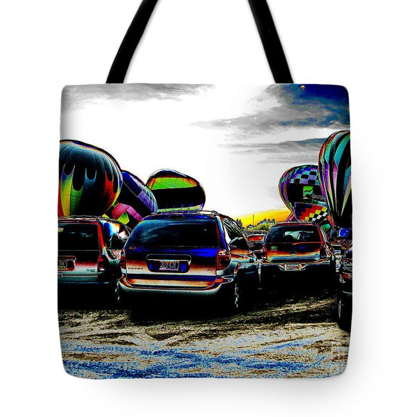 Tote Bag featuring the photograph Balloons by Greg Patzer