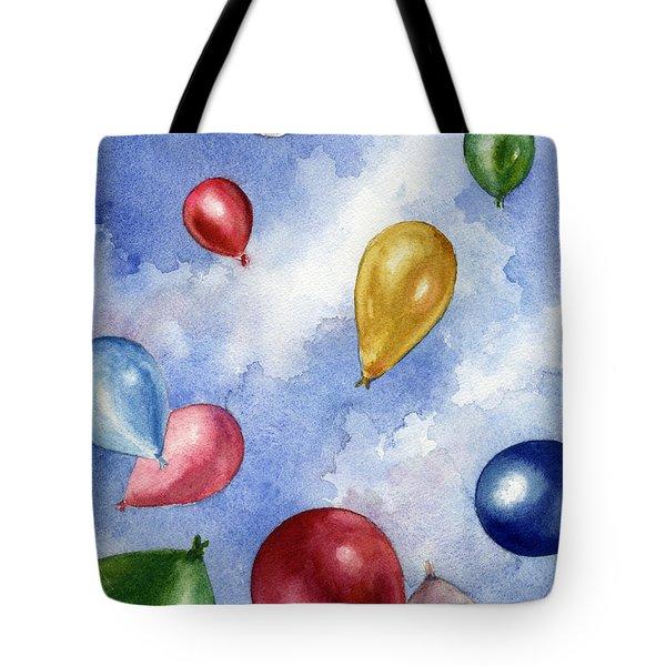 Balloons In Flight Tote Bag