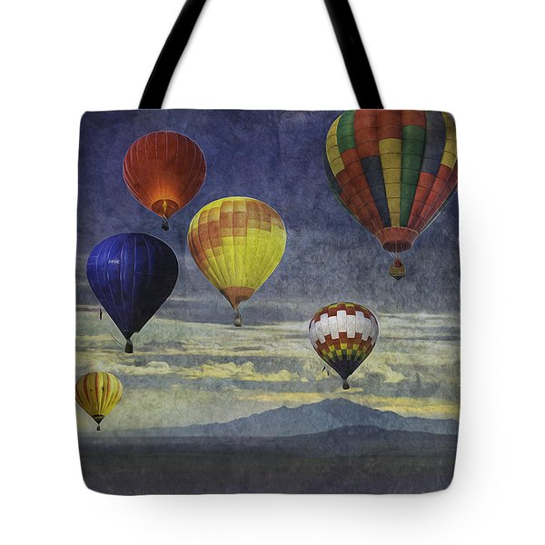 Balloons Over Sister Mountains Tote Bag