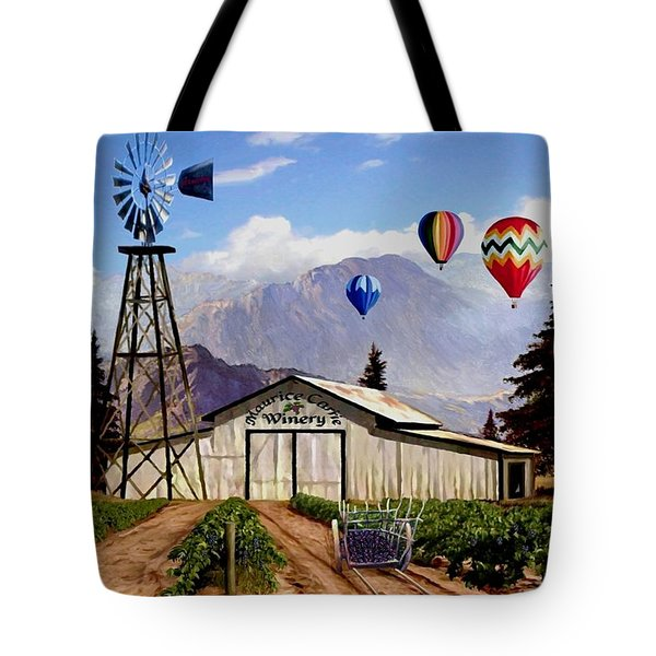 Balloons Over The Winery 1 Tote Bag