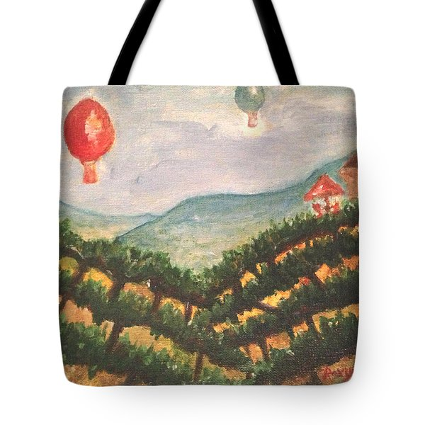 Balloons Over Wine Country Tote Bag