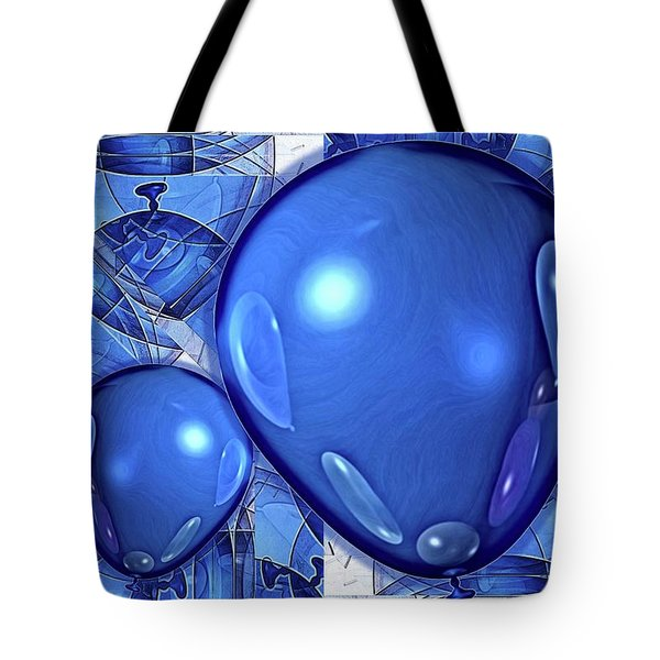 Balloons Tote Bag by Ron Bissett