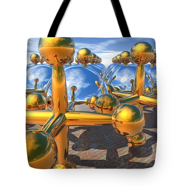 Balls And Jacks II Tote Bag by Lyle Hatch