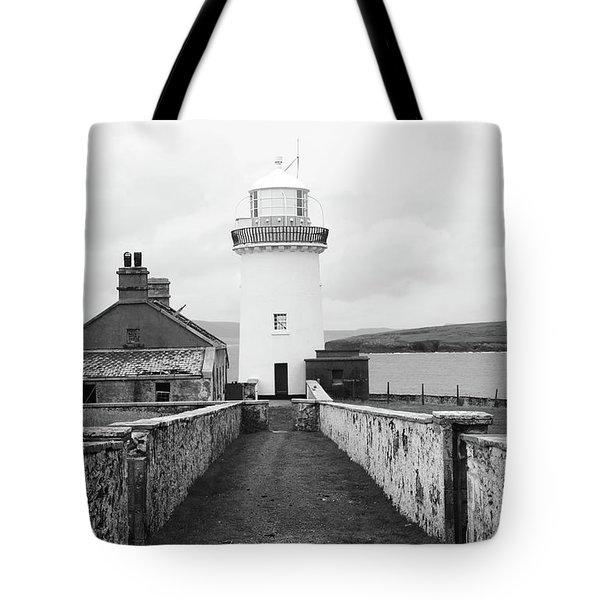 Ballyglass Lighthouse Mono Tote Bag