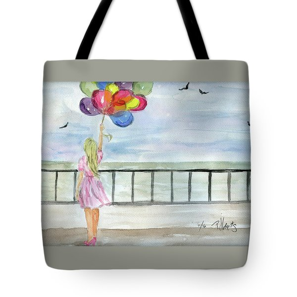 Tote Bag featuring the painting Baloons by P J Lewis