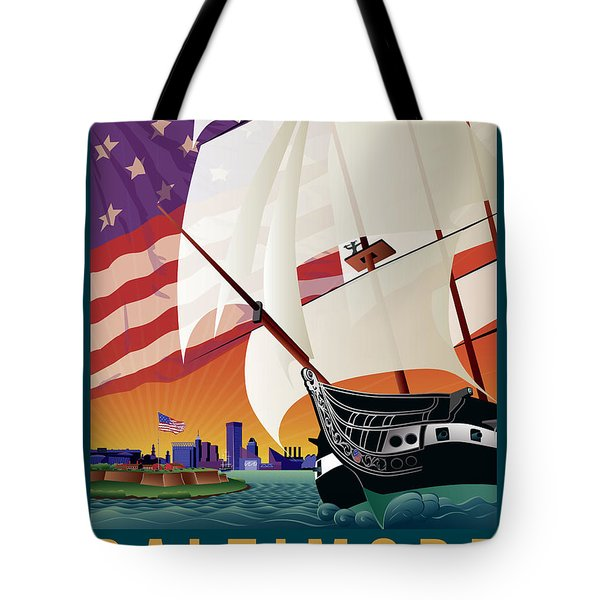 Baltimore - By The Dawns Early Light Tote Bag