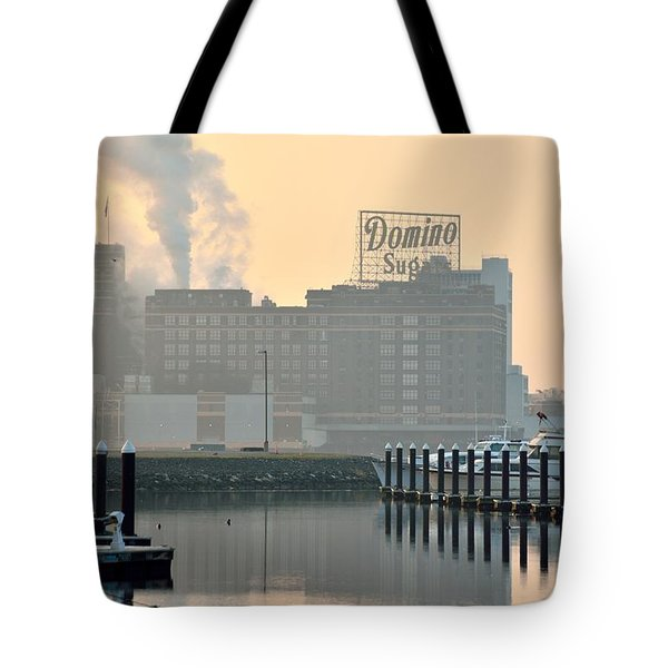 Baltimore Harbor Dawn Tote Bag by Steven Richman
