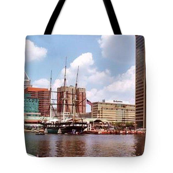 Baltimore Harbor Panorama Tote Bag