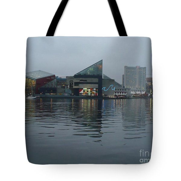 Baltimore Harbor Reflection Tote Bag by Carol Groenen