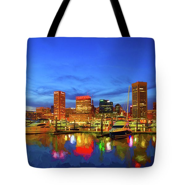 Baltimore Harbor Reflections 2 Tote Bag