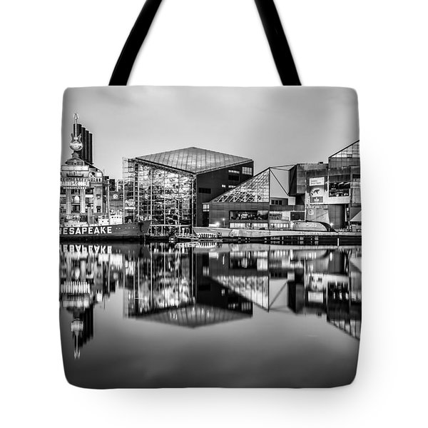 Baltimore In Black And White Tote Bag