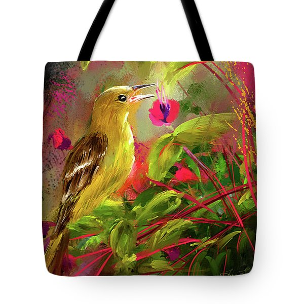 Baltimore Oriole Art- Baltimore Female Oriole Art Tote Bag