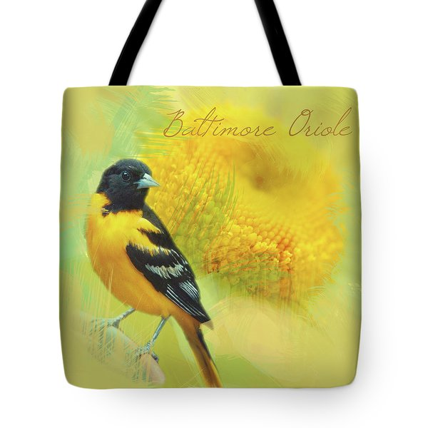 Baltimore Oriole Watercolor Photo Tote Bag