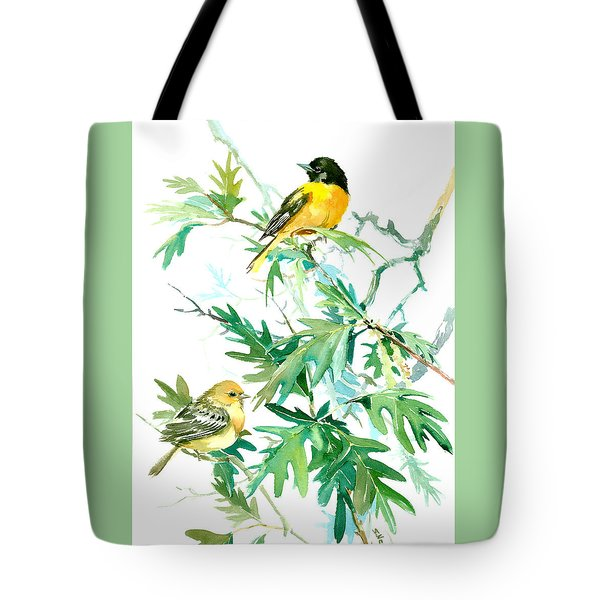 Baltimore Orioles And Oak Tree Tote Bag by Suren Nersisyan