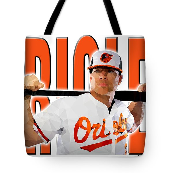 Tote Bag featuring the digital art Baltimore Orioles by Stephen Younts