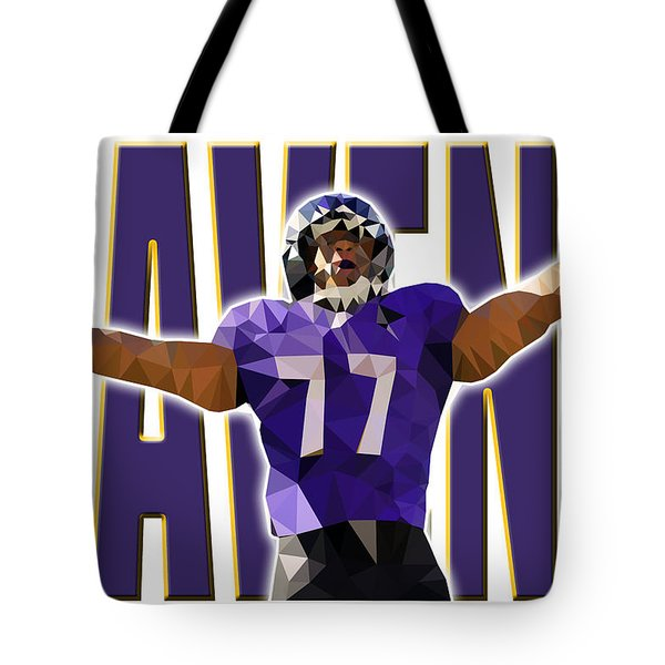 Tote Bag featuring the digital art Baltimore Ravens by Stephen Younts