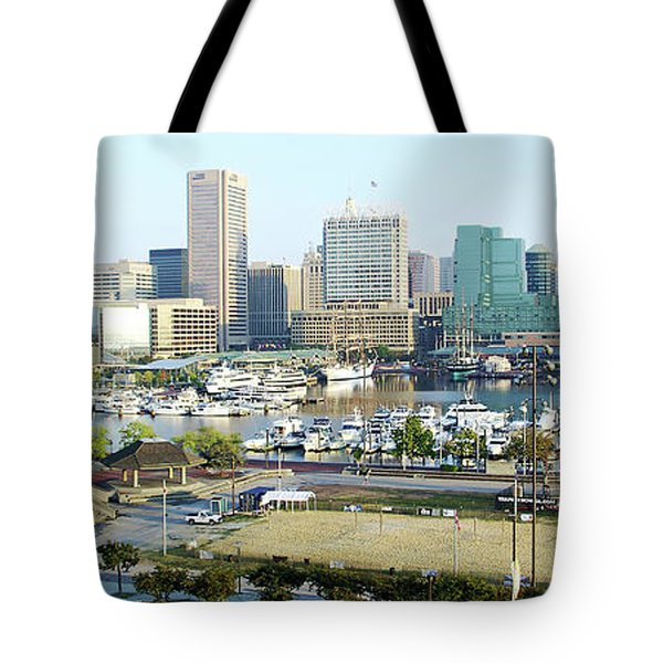 Tote Bag featuring the photograph Baltimore's Inner Harbor by Brian Wallace