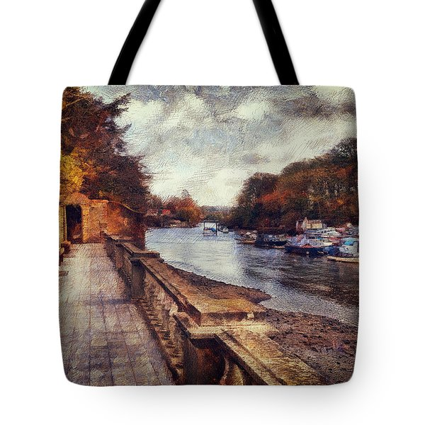 Balustrades And Boats Tote Bag