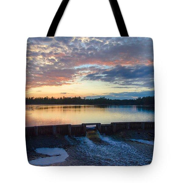 Bamber Lake Sunset Tote Bag