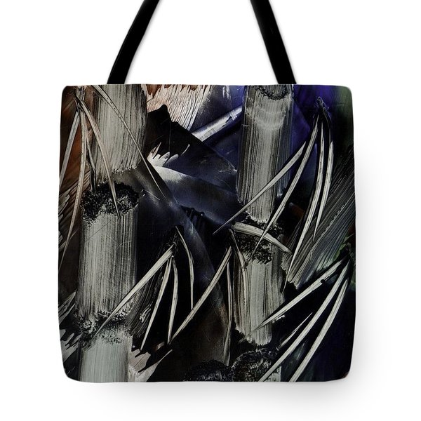 Bamboo Abstract In Encaustics Tote Bag