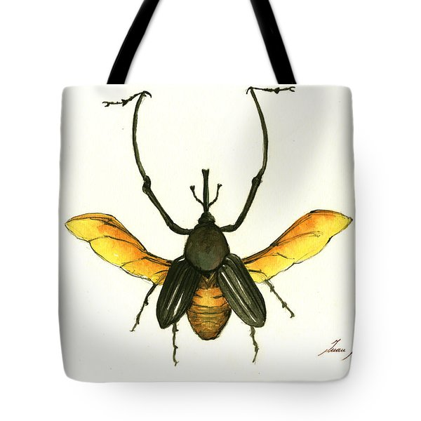 Bamboo Beetle Tote Bag by Juan Bosco