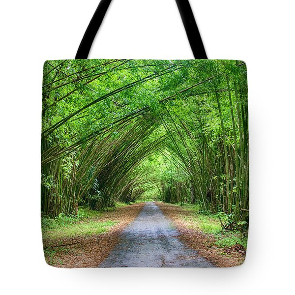 Tote Bag featuring the photograph Bamboo Cathedral Trinidad by Rachel Lee Young