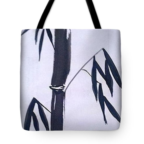 Bamboo In Black And White Tote Bag
