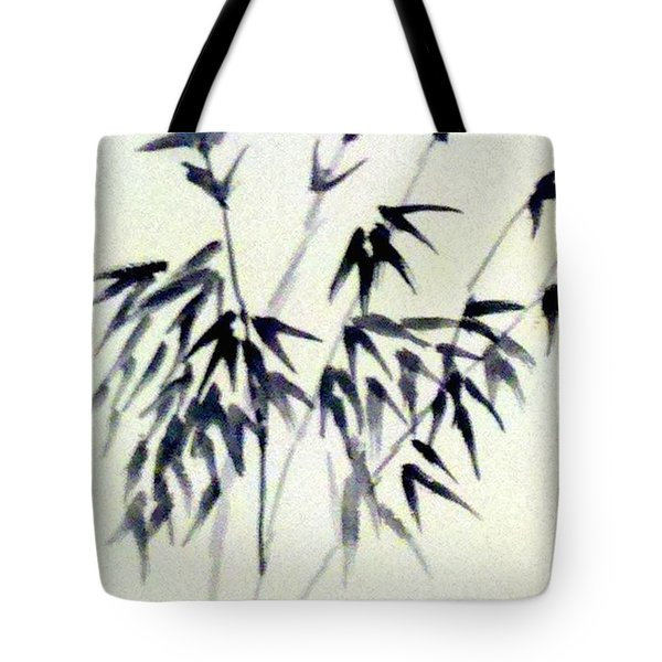 Bamboo In Black Ink Tote Bag