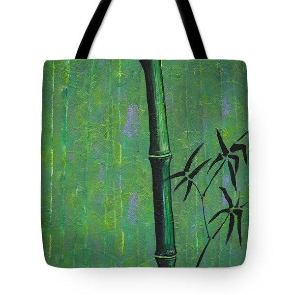 Tote Bag featuring the painting Bamboo by Jacqueline Athmann