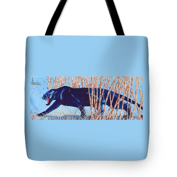 Bamboo Panther Tote Bag by Larry  Johnson